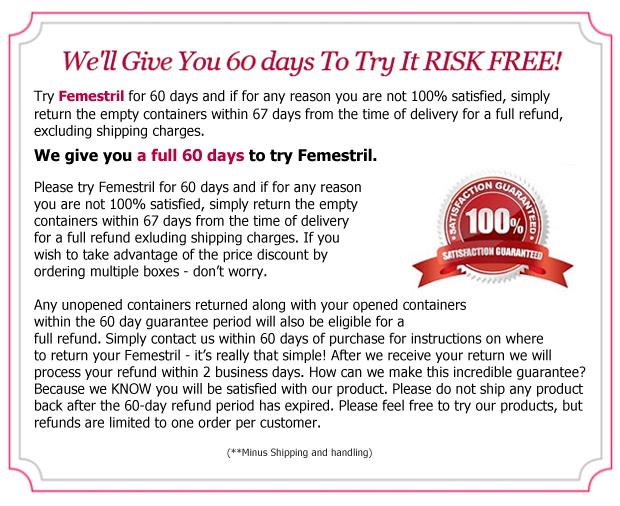 terms of the femestril guarantee